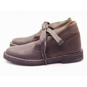 ガイモ gaimo レディース チャッカーブーツ GRAY スムースレザー 靴 creation-shoes