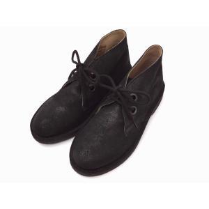 ガイモ gaimo レディース チャッカーブーツ BLACK ラメスエード 靴 creation-shoes