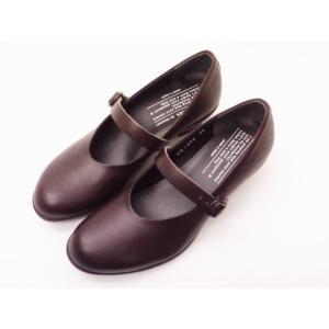 トラベルシューズバイショセ Ladies' ワンストラップヒールパンプス TR-006 ダークブラウン|creation-shoes