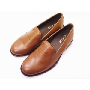 BICASH ビカーシ レザースリッポン No.063 BROWN ライトブラウン MEN'S|creation-shoes