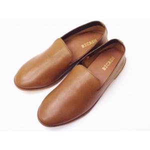 ビカーシ BICASH カジュアルスリッポン No.094 BROWN ライトブラウン MEN'S 靴|creation-shoes