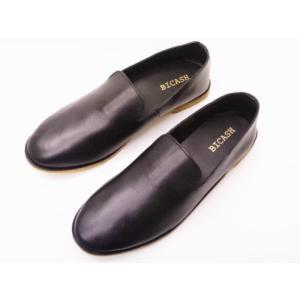 ビカーシ BICASH カジュアルスリッポン No.094 BLACK ブラック MEN'S 靴|creation-shoes