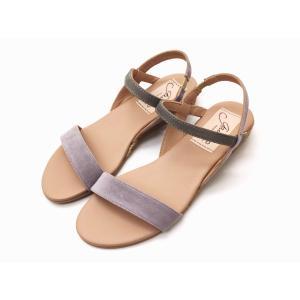 ガイモ gaimo サンダル NEPAL ライトパープル×グレー Ladies' バイカラーサンダル creation-shoes