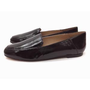 ボントレ BONTRE #90054 BLACKエナメル スクエアバブーシュ 靴 レディース|creation-shoes