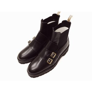 ビュール・エ・ポップ BULLE & POP サイドゴアブーツ BLACK ショートブーツ レディース creation-shoes