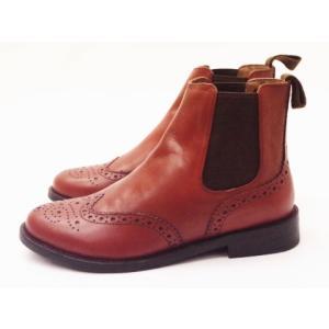 マリー・ルイーズ Marie Louise メダリオンサイドゴアブーツ MLS-62L BORDEAUX(ブリックレッド) レディース|creation-shoes