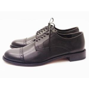 ビカーシ BICASH パンチドキャップトウ No.090 ブラック BLACK 靴 メンズ|creation-shoes