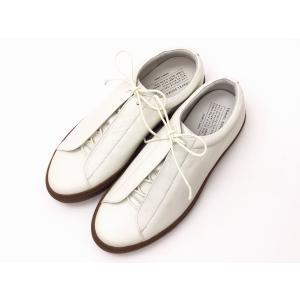 トラベルシューズバイショセ スニーカー TR-013 WHITE/CAMEL メンズ&レディース 靴|creation-shoes