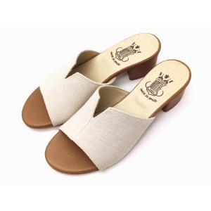 ボントレ BONTRE サンダル #05503 IVORY アイボリー リネンヒールミュール Ladies'|creation-shoes