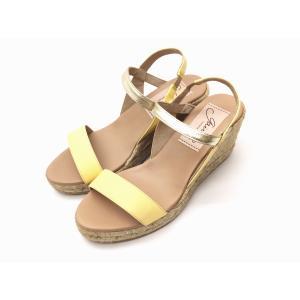 ガイモ gaimo サンダル GAEL-NJ イエロー YELLOW バイカラーヒールサンダル creation-shoes