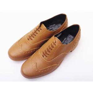 トラベルシューズバイショセ ウイングチップシューズ TR-004 ライトブラウン LBR レディース 靴|creation-shoes