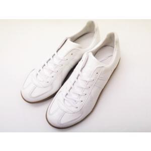 ジャーマントレーナー German Trainer レザースニーカー 1183AL ホワイト WHITE メンズ&レディース 白|creation-shoes