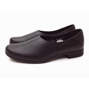 トラベルシューズバイショセ シンプルスリッポン TR-018 ブラック BLACK レディース 靴|creation-shoes