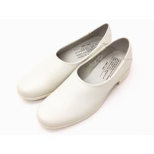 トラベルシューズバイショセ シンプルスリッポン TR-018 ホワイト WHITE レディース 靴|creation-shoes