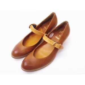 ショセ chausser 靴 レディース PC-570 ブラウン BROWN すべり止め加工済み ワンストラップパンプス creation-shoes