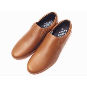 トラベルシューズバイショセ MEN'S スリッポン TR-003M BROWN ブラウン 靴 メンズ|creation-shoes