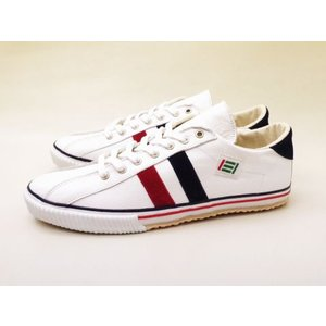 maccheronian マカロニアン スニーカー 2215L(WHITE/RED/NAVY) メンズ レディース creation-shoes