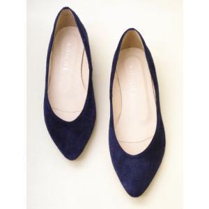 WITH LIFE ウィズライフ ポインテッドトウ・ウエッジパンプス W33003(NAVY SUEDE) creation-shoes