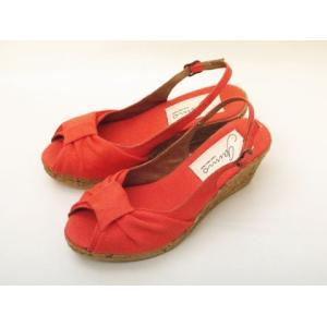 gaimo ガイモ ウエッジソール・サンダル (ORANGE コットン) creation-shoes