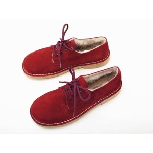 CALIDAD カリダッド ボア付きレースアップシューズ No.8402(RED) Ladies'|creation-shoes