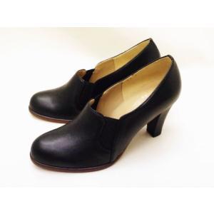 Yale+No.88 エイト サイドゴア・ブーティパンプス No.20159(BLACK)  レディース|creation-shoes