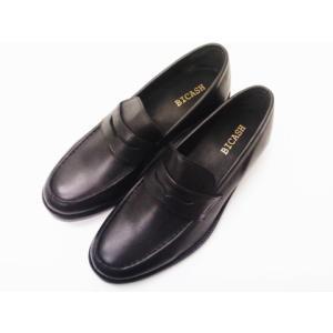 BICASH ビカーシ コインローファー No.008 BLACK メンズ スリッポンシューズ|creation-shoes