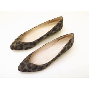 WITH LIFE ウィズライフ ポインテッドトウ・ウエッジパンプス W33003(OLIVE/レオパード) creation-shoes