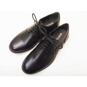 ビカーシ BICASH プレーントゥ  No.001 ブラック BLACK メンズ 革靴|creation-shoes