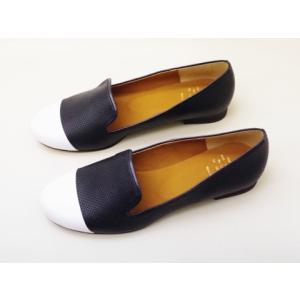 Yale+No.88 エイト オペラシューズ No.40032(パンチングNAVY)  レディース|creation-shoes