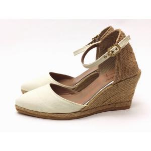 gaimo ガイモ エスパドリーユ・ウエッジシューズ ISLA51 (IVORY コットン) creation-shoes