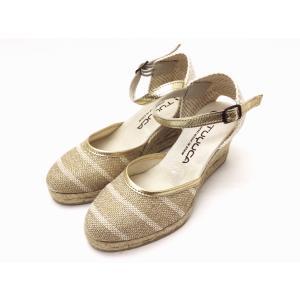 TUYUCA ツユカ エスパドリーユ ウエッジシューズ サンダル (GOLD) レディース creation-shoes