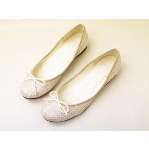 Yale+No.88 エイト バレエシューズ No.80001(アイボリー)  レディース|creation-shoes
