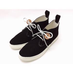 バディー buddy スニーカー Corgi Mid Suede BLACK メンズ&レディース|creation-shoes