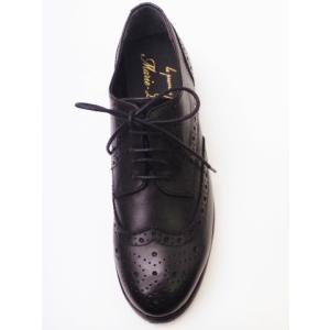 マリー・ルイーズ Marie Louise ウイングチップシューズ MLS-46L BLACK レディース|creation-shoes