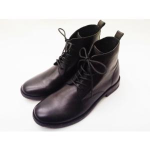 BICASH ビカーシ レースアップブーツ No.054 BLACK men's ショートブーツ|creation-shoes