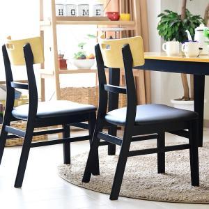 ダイニングチェアー チェアー 椅子 PVC ブラック 合皮 シンプル カントリー|creation-style