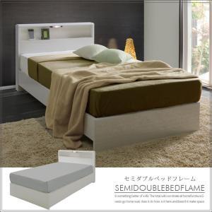 ベッド セミダブルベッド ベッドフレーム 木製 ホワイト セミダブルサイズ|creation-style