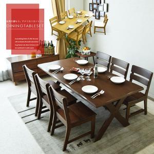ダイニングテーブルセット 幅180 7点セット 無垢 木製 アメリカンカントリー|creation-style