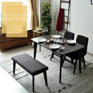 ダイニングテーブルセット 幅120 4点セット 木製 オーク 4人掛け|creation-style