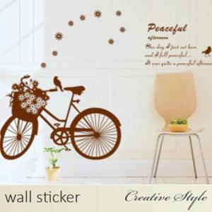 商 品 名:ロマンチック自転車 ウォールステッカー ウォールシール 壁紙シール 商品番号:WS-AY...