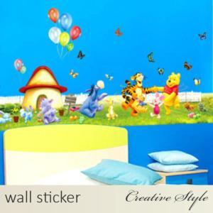 商 品 名:くまのプーさんたち in ファーム コレクション ウォールステッカー ウォールシール 壁...
