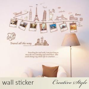 商 品 名:ワールド旅行 ウォールステッカー ウォールシール 壁紙シール 商品番号:WS-AY901...