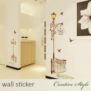 商 品 名:街灯柱 ウォールステッカー ウォールシール 壁紙シール 商品番号:WS-AY9202 材...