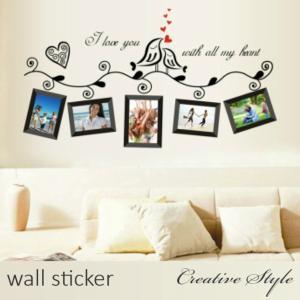 商 品 名:愛のメモリー(ブラック) ウォールステッカー ウォールシール 壁紙シール 商品番号:WS...