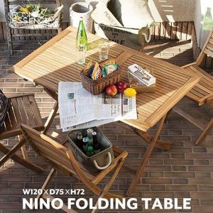 折りたたみテーブル フォールディングテーブル ガーデンテーブル 折畳み パラソル穴付 ベランダ NX-802|creativelife