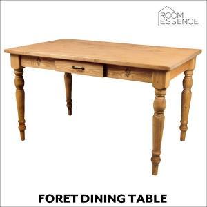 ダイニングテーブル 幅120cm テーブル 机 食卓 木製 天然木 カントリー cafe foret フォレ CFS-771|creativelife