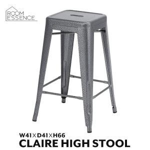 ハイスツール スタッキングスツール バースツール カウンタースツール キッチンスツール 椅子 いす チェアー 積み重ね収納 収納 スチール PC-132BKの写真