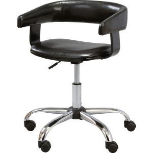 デスクチェア 昇降機能 ソフトレザー 合皮 合成皮革 オフィス oaチェア ワークチェア パソコンチェア pcチェア 椅子 いす ブラック RKC-261BK|creativelife