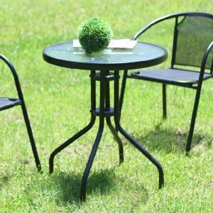 ガーデンテーブル 高さ71cm ガラステーブル ラウンドテーブル ラウンジテーブル 33904|creativelife