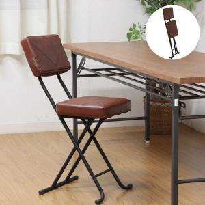パイプ椅子 フォールディングチェア 折りたたみ椅子 折り畳み 折畳み チェアー 簡易椅子 合成皮革 ...